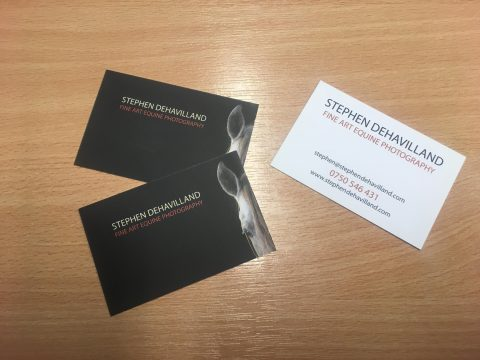 Dehavilland photography the listing marketing company we created bespoke business cards for dehavilland photography steve has many years experience in portrait and equine photography and wanted business cards reheart Images